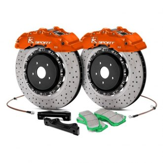 KSport® - SuperComp Cross Drilled Front Brake Kit
