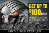 KUMHO TIRES® - Fall Promotion