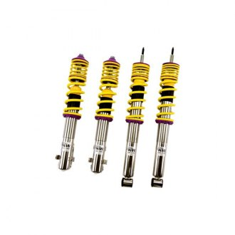 "KW Suspensions® - 1.7""-3.3"" x 1.7""-3.3"" V2 Inox-Line Front and Rear Lowering Coilover Kit"