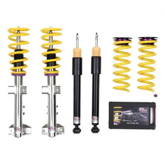 "KW Suspensions® - 0.8""-1.6"" x 0.8""-1.6"" Street Comfort Front and Rear Lowering Coilover Kit"