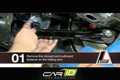Lakewood® Trailing Arm Installation on Chevy Camaro