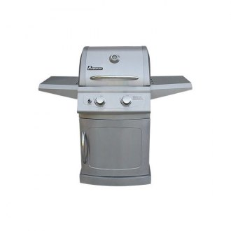Landmann® - Falcon 2 Burner Grill with Stainless Steel Folding Shelves