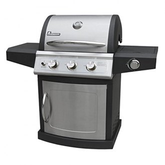 Landmann® - Falcon 3 Burner Grill with Side Burner and Black Powder Fixed Shelves, 412 in sq Primary Cooking Space