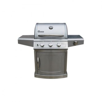 Landmann® - Falcon 3 Burner Grill with Side Burner and Stainless Steel Side Shelves