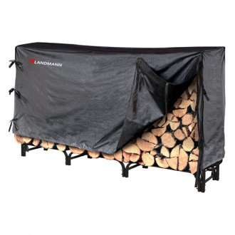 Landmann® - 8' Black Super Sturdy Log Rack wth Middleweight Cover