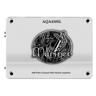 Lanzar® - Aqua Series 4-Channel 1600W Silver Amplifier