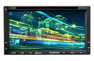 Lanzar® - Double DIN 6.95'' Touch Screen DVD/MP4/MP3/CD Receiver with Hands-Free Bluetooth