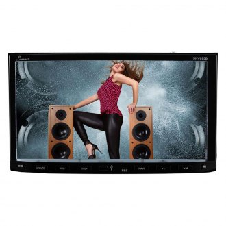 "Lanzar® - Double DIN DVD/CD/AM/FM/MP3/MP4 Receiver with 7"" Touchscreen Monitor, Built-In Bluetooth and and GPS Navigation"