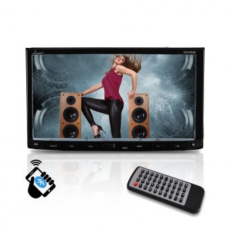 "Lanzar® - Double DIN DVD/MP4/MP3/CD Receiver with 7"" Touchscreen, Bluetooth and GPS"