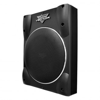 "Lanzar® - 10"" Vector Series Single Super Slim Low Profile Sealed Powered 1600W Subwoofer Enclosure"