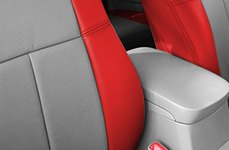 Leathercraft Gray & Red Seat Covers