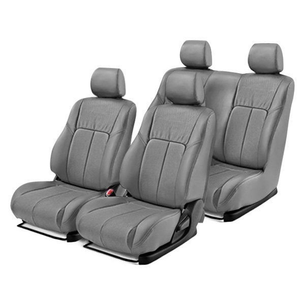 Leathercraft® - Front and Rear Gray Leather Seat Covers