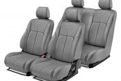 Leathercraft® - Front and Rears Gray Leather Seat Covers