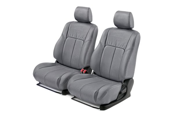 Leathercraft® - Front Gray Custom Leather Seat Covers with Gray Insert