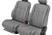 Leathercraft® - Front Gray Leather Seat Covers