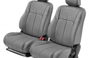 Leathercraft® TOY2105GR-FS - Front Gray Leather Seat Covers