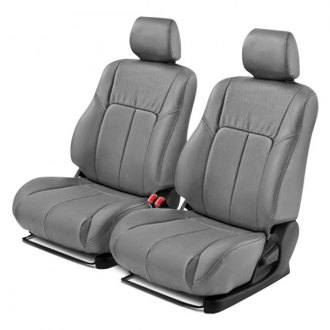 Leathercraft® - 1st Row Gray Leather Seat Covers