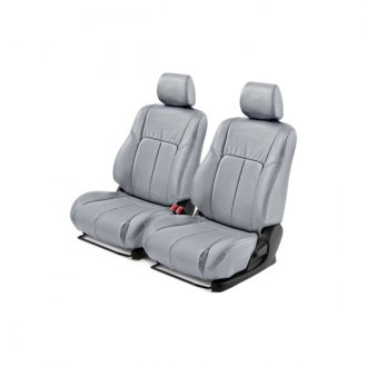 Leathercraft® - Front Light Gray Leather Seat Covers