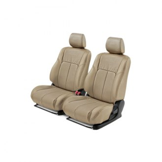 Leathercraft® - 1st Row Tan Leather Seat Covers