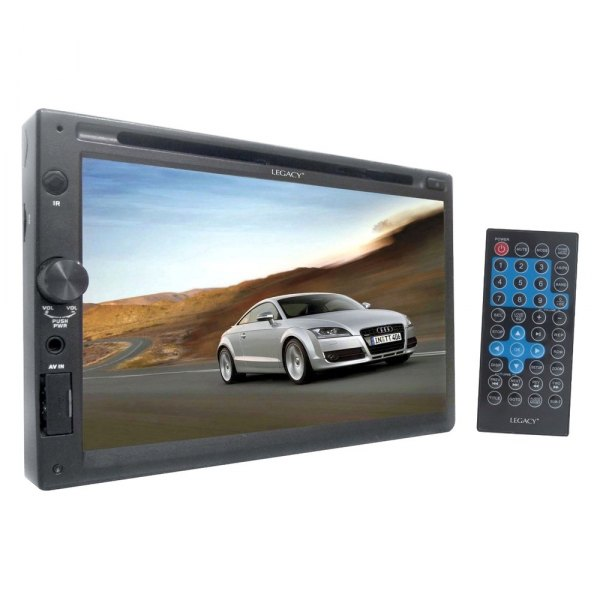 "Legacy® - Double DIN DVD/CD/AM/FM/MP3 Receiver with 7"" Touchscreen Display"