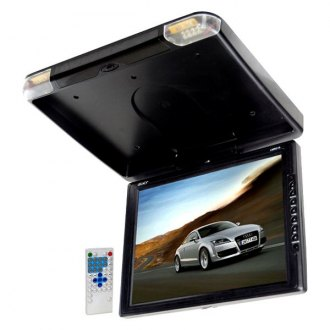 "Legacy® - 14"" Black Flip Down TFT Monitor with Built-In DVD Player"