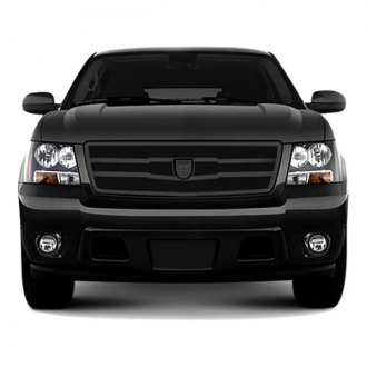 Lexani® - Zurich Style Black Mesh Grille Kit with Black Frame