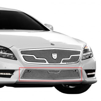 Lexani® - 1-Pc Venice Style Chrome Mesh Bumper Grille with Chrome Frame