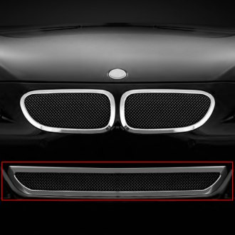Lexani® - 1-Pc Classic Style Black Mesh Bumper Grille with Chrome Frame