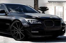 Lexani CSS-10 Black with CNC Machined Grooves on BMW 7-Series