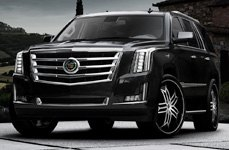 Low-Profile Lexani Tires on Cadillac Escalade