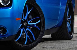 Lexani Tires on Dodge Challenger