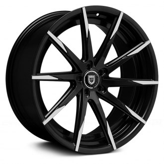 LEXANI® - 15-CSS Gloss Black with Machined Tips and Exposed Lugs