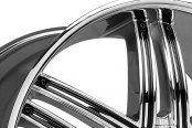 LEXANI® - ADVOCATE Chrome with Black Inserts Close-Up