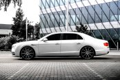 LEXANI® - CSS-10 Gloss Black with Machined Face on Bentley Flying Spur