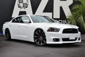 LEXANI® - CSS-15 Gloss Black with Machined Tips on Dodge Charger
