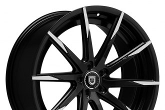 "LEXANI® - CSS-15 Gloss Black with Machined Tips (20"" x 8.5"", +15 to +45 Offsets, 5x105-130 Bolt Patterns, 74.1-110mm Hubs)"