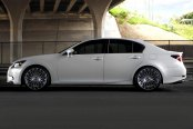 LEXANI® - CSS-16 Gunmetal with Machined Face on Lexus GS350
