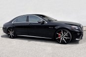 LEXANI® - CSS-7 Gloss Black with Machined Face on Mercedes S63