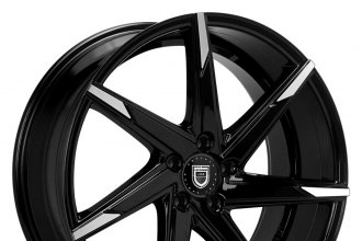 "LEXANI® - CSS-7 Gloss Black with Machined Tips (20"" x 8.5"", +15 to +45 Offsets, 5x105-130 Bolt Patterns, 74.1-110mm Hubs)"