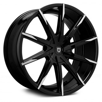 LEXANI® - CSS-15 Gloss Black with Machined Tips and Covered Lugs