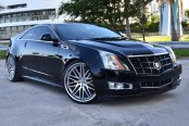 LEXANI® - CVX-44 Black with Machined Face and SS Lip on Cadillac CTS-V