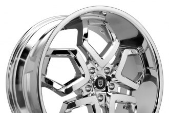 "LEXANI® - HYDRA Chrome with Exposed Lugs (22"" x 9"", +15 to +45 Offsets, 5x108-130 Bolt Patterns, 78.1-110mm Hubs)"