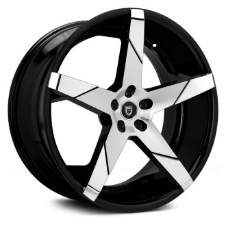 LEXANI® - INVICTUS-Z Gloss Black with Machined Face and Chrome Inserts