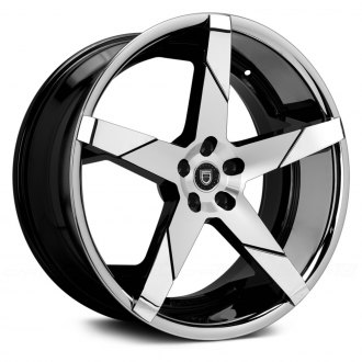 LEXANI® - INVICTUS-Z Gloss Black with Machined Face, SS Lip and Chrome Inserts