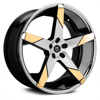 LEXANI® - INVICTUS-Z Gloss Black with Machined Face, SS Lip and Gold Inserts