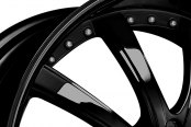 LEXANI® - LSS-10 Gloss Black with Exposed Lugs Close-Up
