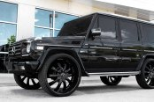 LEXANI® - LSS-10 Gloss Black with Exposed Lugs on Mercedes G Class