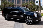 LEXANI® - LUST Black with Machined Face on Cadillac Escalade ESV