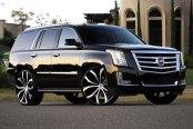 LEXANI® - LUST Black with Machined Face on Cadillac Escalade