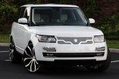 LEXANI® - LUST Black with Machined Face on Land Rover Range Rover HSE
